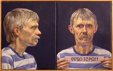 Her viser kunstmaler christian hansen eksempler på sine malerier